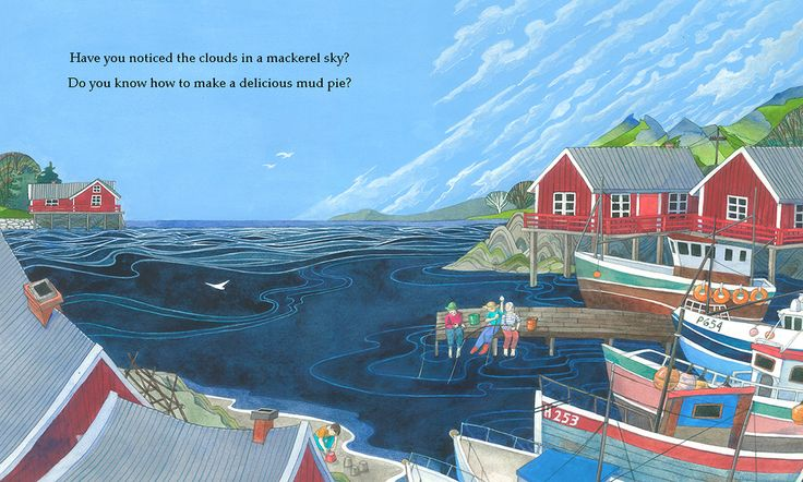 A page from Seasons of Wonder by Julia Key (Lionhudson Sept. 2017) depicting the summer in Norway.