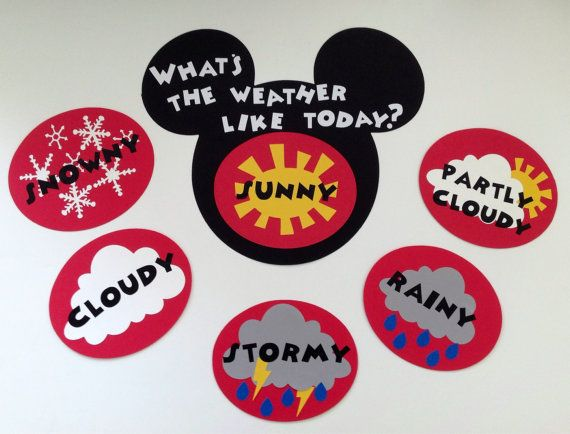 Kindergarten Preschool Disney Weather Chart by MsKarensKrafts
