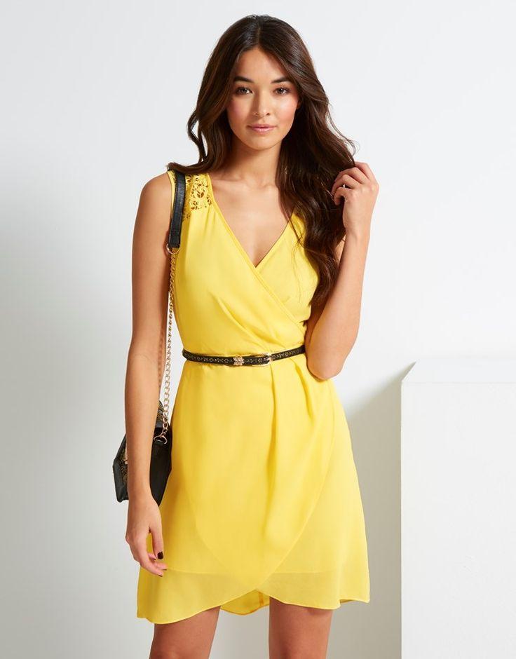 Uttam Boutique Lace Shoulder Dress