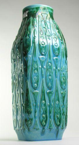 LARGE FLOOR VASE West German Pottery Modernistic Mid 20th Century Vintage Retro
