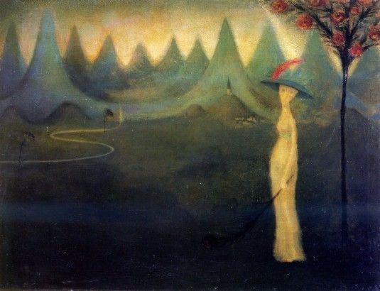 Jan Zrzavý,  Údolí smutku (1908) malba olej, plátno