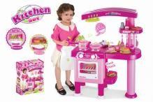 Detská kuchynka G21 veľká s príslušenstvom ružová /