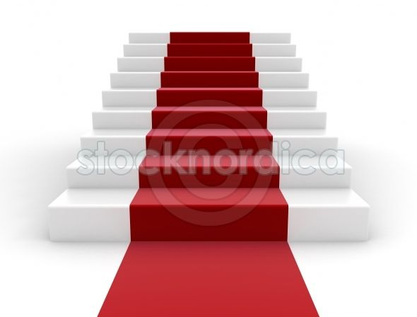 +stocknordica.com | staircase with red carpet climbing the steps to success. http://www.stocknordica.com/image/staircase-with-red-carpet-2/