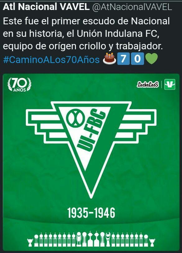 Primer escudo de atlético nacional en su historia