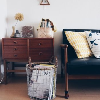 北欧テイストの小物や家具と合わせると、また違った表情を見せます。クッションの使い方がポイント!