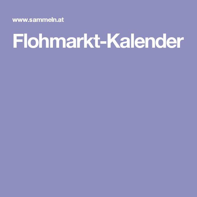 Flohmarkt-Kalender