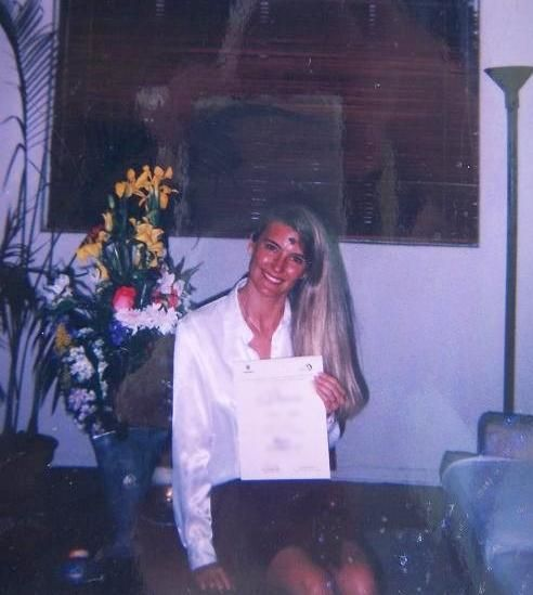 With one of my Journalism National Prizes, at Home. On 'Ash Wednesday', jeje ;) ** .