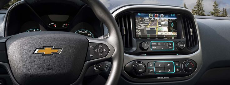 Interior look of the Chevy Colorado with advanced technologies like the 8-inch…