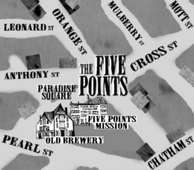 The Five Points was the birthplace of the first New York City street gangs.
