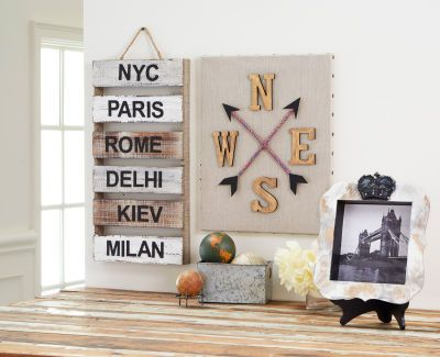 World Travel Cities Wood Pallet