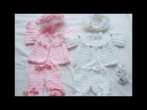 Chaqueta de bebé con canesu redondo - YouTube