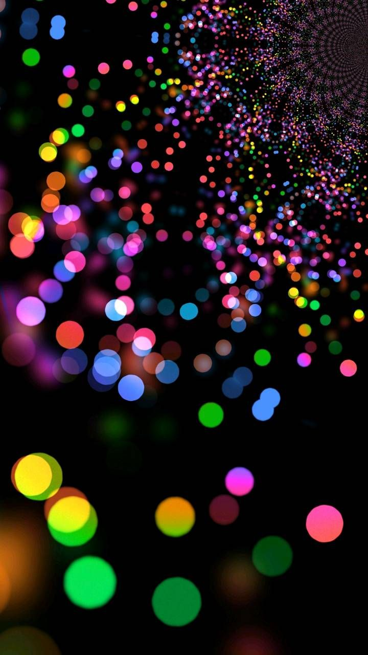 4k Black Bokeh Wallpaper Black Wallpaper Rainbow Wallpaper
