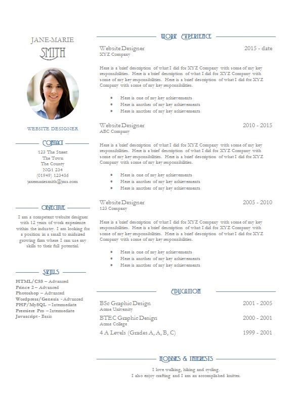 What To Include In A Cv With Examples