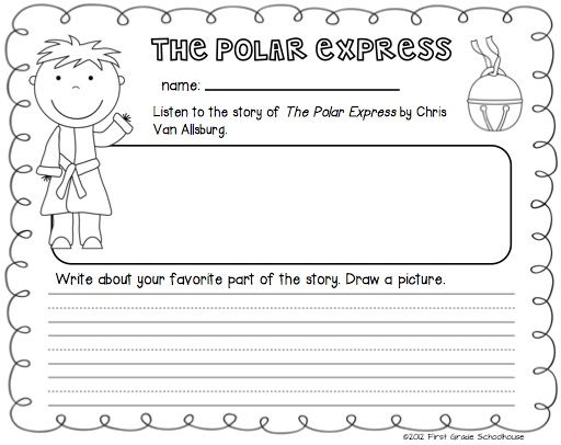 The Polar Express for Firsties. Literacy and math activities and centers.