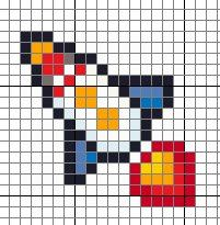 Cross me not: To the moon and back! Cross stitch rocket