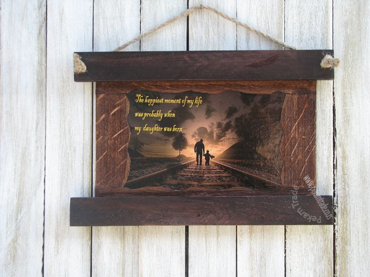 Excited to share the latest addition to my #etsy shop: Daughter And Father With Photo Frame, Rustic photo frame, Washed wood, Vintage gift http://etsy.me/2D0yIB8 #housewares #homedecor #brown #office #white #woodworkingcarpentry #fathersday #birthday #daughter