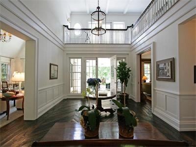 Awesome woodwork. Nice floors. Well done, hamptons people.: East Hampton, Idea, Dreams Houses, Grand Entrance, Wood Floors, Design Bedrooms, Pendants Lights, Homes, Summer Houses