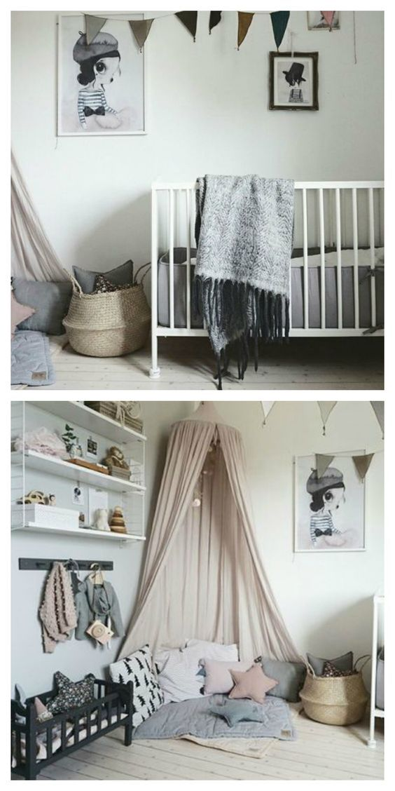 Cute play corner, reading nook. Nursery.