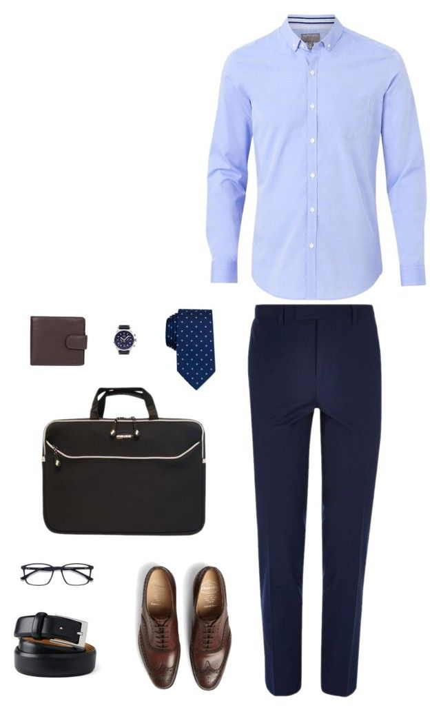 working day by desiharyanto on Polyvore featuring Witchery, River Island, Church's, Balmer, Dents, Lands' End, Mobile Edge, Nautica, men's fashion and menswear