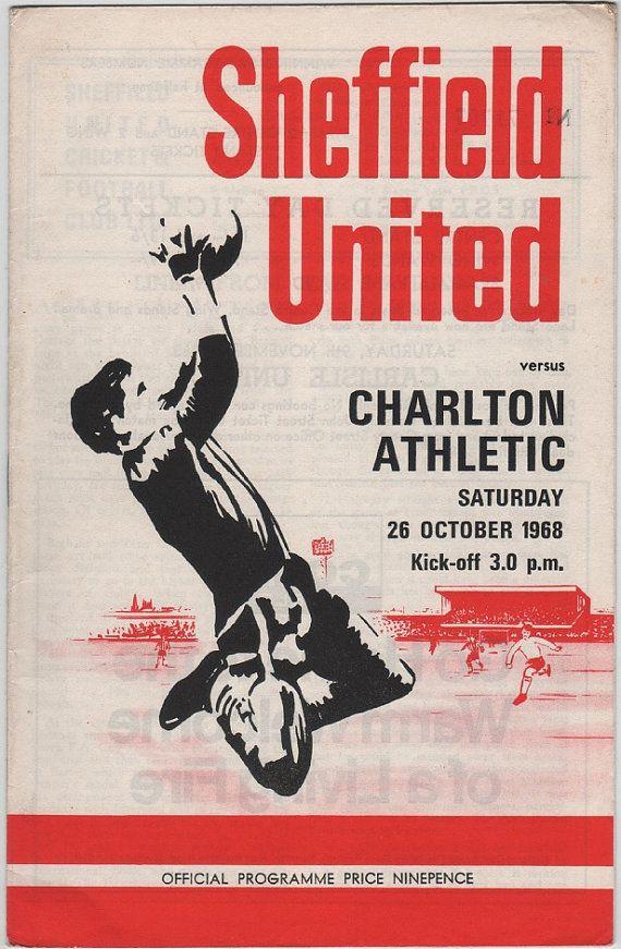 Vintage Football (soccer) Programme - Sheffield United v Charlton Athletic, 1968/69 season #football #soccer