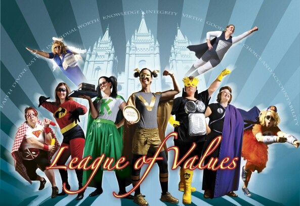 LDS YW Value superheros Mansfield TX 1st ward
