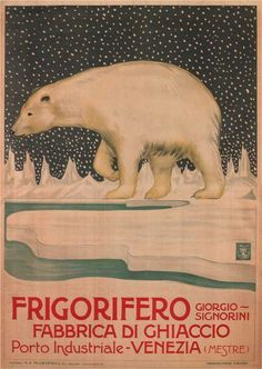 Frigorifero vintage advertisement