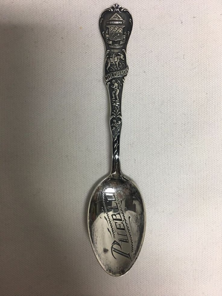 """Watson Sterling Silver Souvenir Spoon Pueblo Colorado 5 1/2"""" #Watson"""