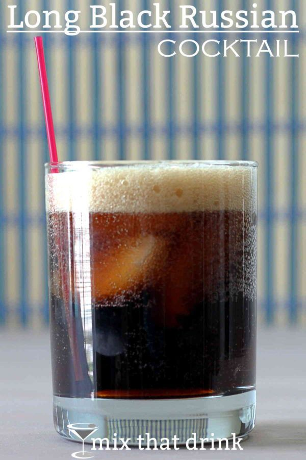 The Long Black Russian cocktail recipe is a simple but delicious twist on the Black Russian. To the traditional Kahlua and vodka, you add several ounces of cola to stretch the drink out.