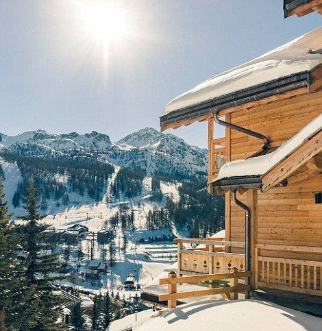 Boasting awe-inspiring, floor-to-ceiling Alpine views Chalet Yoko has a mezzanine cinema s...
