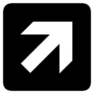 Forward and Right Arrow sign