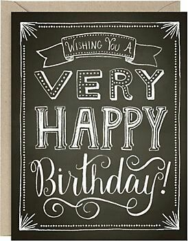 Chalkboard birthday. For more party inspiration and decorations, visit www.custompartyshop.com