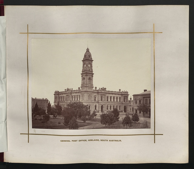 Description: General Post Office, Adelaide, South Australia.    Location: Adelaide, South Australia, Australia    Date: 1876