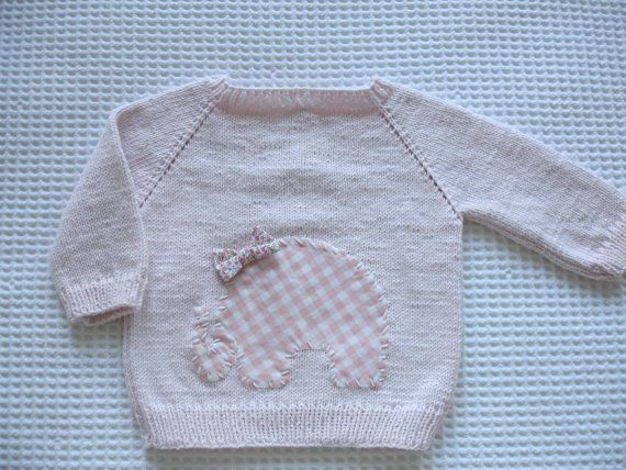 Pink baby sweater by Hipolita on Etsy