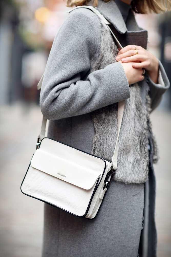 Harriet Stewart – Market & Retail Editor. Sandro coat, Cos poloneck, Zadig & Voltaire bag.