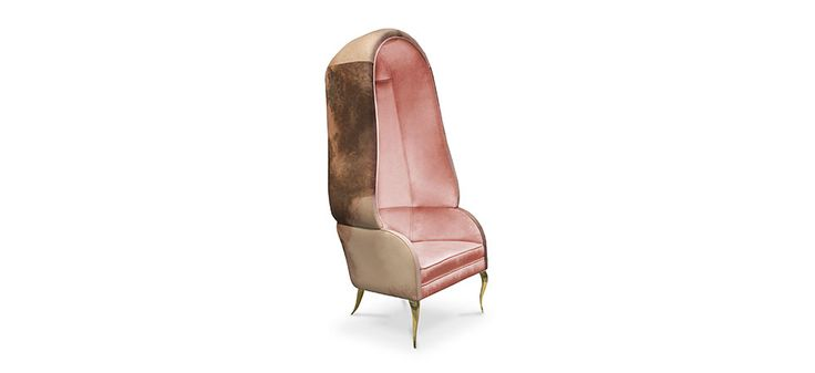 This is a luxury chair made with upholstered fabric, unimaginably comfortable and elegant | Discover more bedroom chairs ideas: http://masterbedroomideas.eu