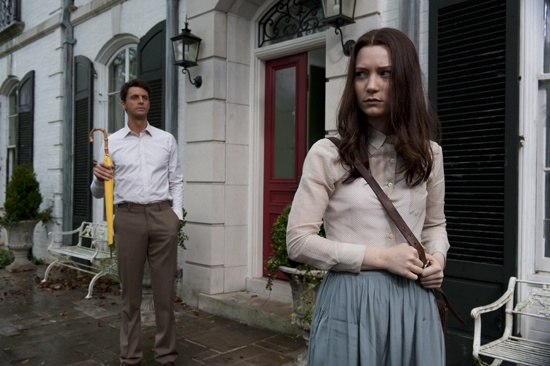 Matthew Goode as Uncle Charlie and Mia Wasikowska as India in Park Chan-wook's STOKER