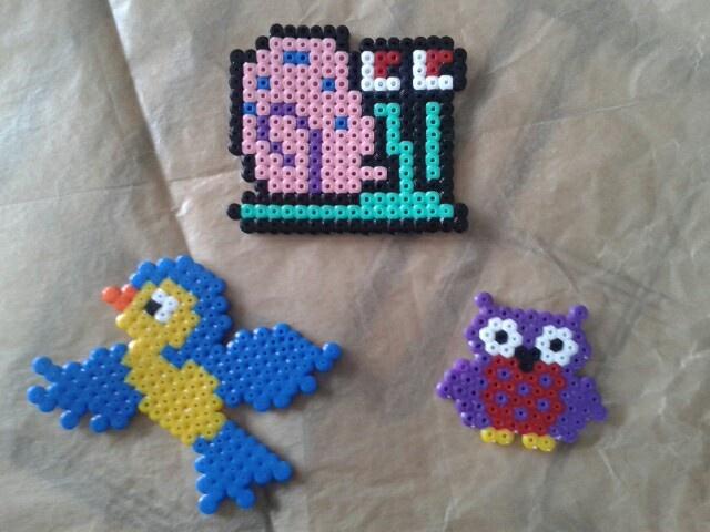 Birdie, gary and owlie