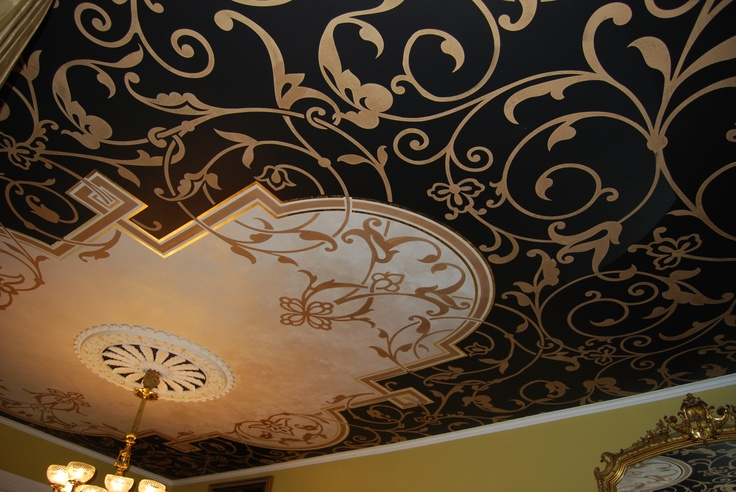 37' ceiling creation for clients Brad & Sherri LeMay's entry hall by Patina Home