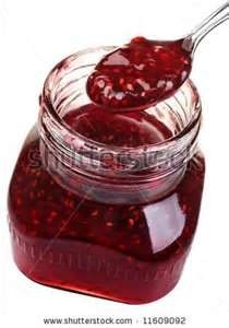 Raspberry jam in Red Candy Apple.