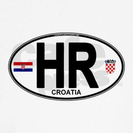 Featuring the flag and shield of the great country of Croatia, wrapped in the oval international / euro-style car symbol. Designed for bumper stickers as well as t-shirts, hoodies, hats, mugs and more
