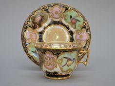 Jacob Petit (attr.) - rare cup and saucer decorated with birds ...