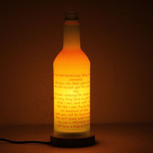 Personalized Yellow Lamp