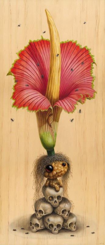 "Cuddly Rigor Mortis - ""Bunga Bangkai"" - 24x18 fine art paper print ($35), 14x10 small stretched canvas print ($70) and 22x16 medium stretched canvas print ($110) - from TAG Galleries"