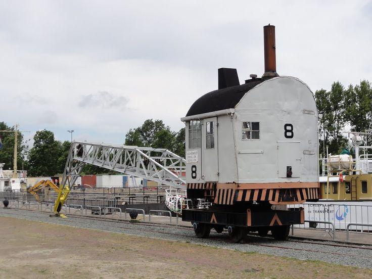 Old Crane at Dry-Dock 'Jan Planken', Hellevoetsluis.