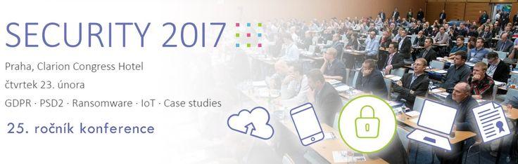 Zveme vás jako partner na jubilejní 25. ročník konference SECURITY 2017: https://www.antivirovecentrum.cz/aktuality/jubilejni-25-rocnik-konference-security.aspx