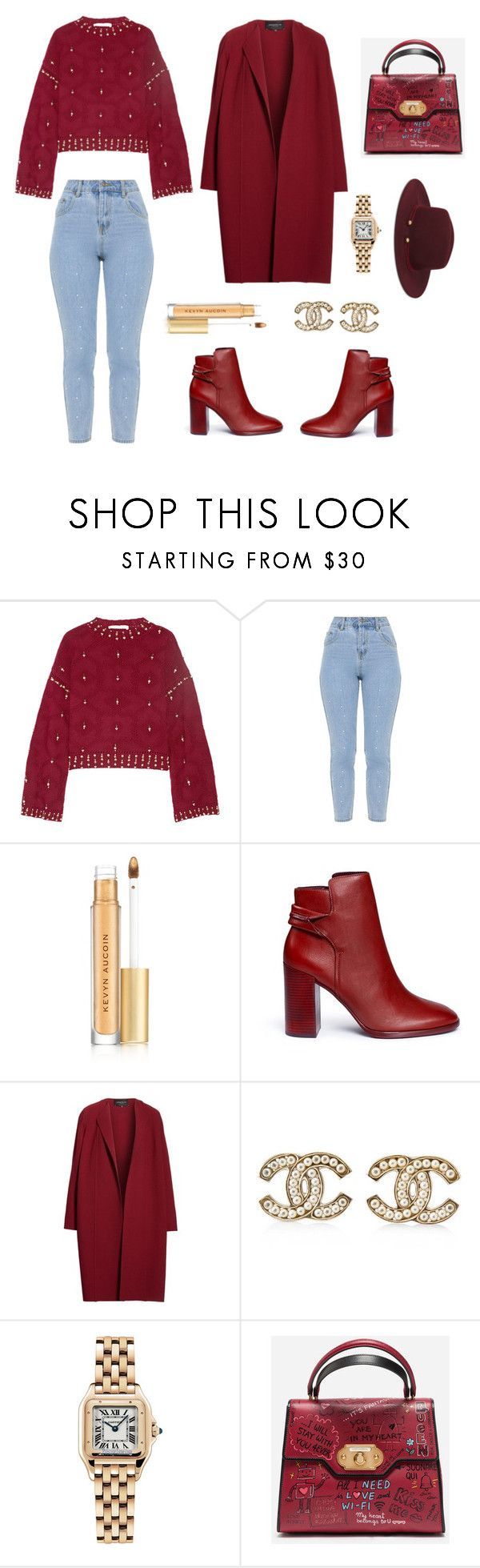 """""""Untitled #270"""" by simplyjazmyn on Polyvore featuring Jonathan Simkhai, Kevyn Aucoin, Mercedes Castillo, Lafayette 148 New York, Chanel, Cartier, Dolce&Gabbana and Nine West"""