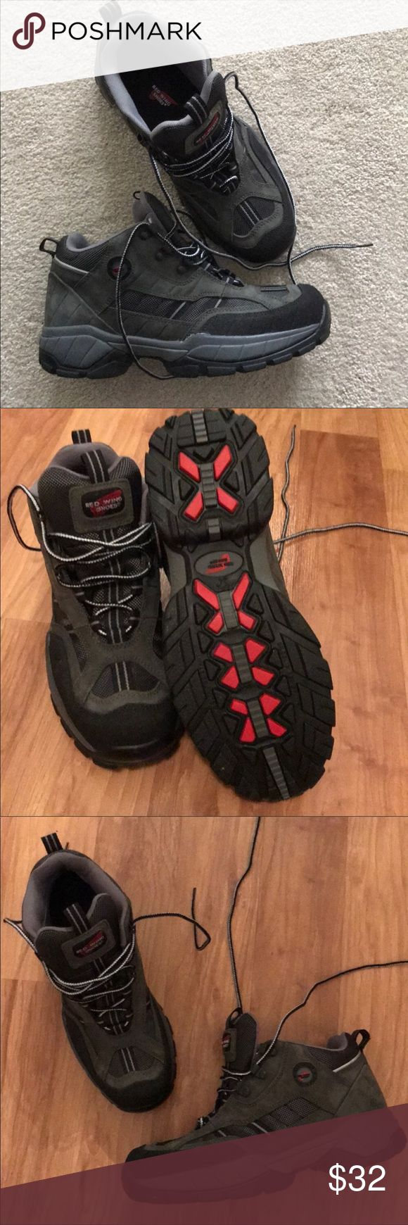 Red wing steel toe hiking/work boots In excellent condition worn once no box price is firm Red Wing Shoes Shoes Lace Up Boots