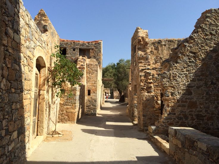 The island of spinalonga. Crete, Greece
