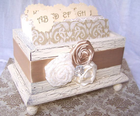Wedding Guest Book Box  Ivory and Champagne Shabby by itsmyday, $68.00Guest Books, Book Boxes Great, Wedding Cards Boxes, Shabby Chic, Boxes Great Ideas, Boxes Ivory, Wedding Guest Book Boxes, Guestbook, Wedding Eye