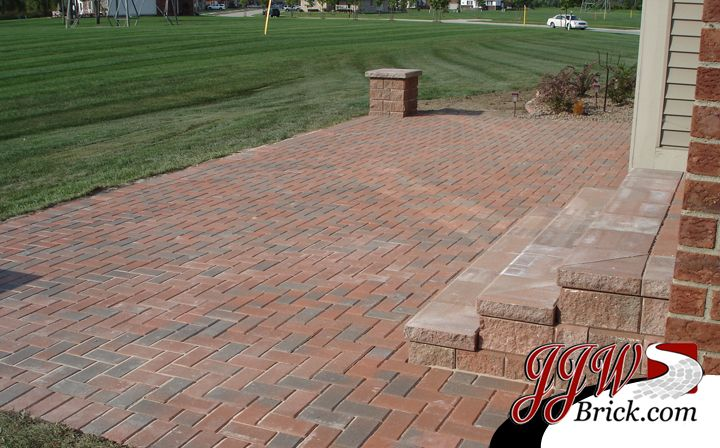 Paver Brick Patio Installation In Bloomfield Hills MI   4 X 8 Herringbone  Pattern. | Brick Paver Patio Designs | Pinterest | Brick Patios, Patios And  Bricks